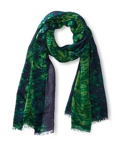 73% OFF Tahari Women's Mirrored Tropics Scarf, Green