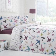 Debenhams White 'Swallows' bedding set- at Debenhams.com