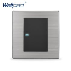2017 venta caliente 1 gang 2 way wallpad lujo led de iluminación interruptor pulsador interruptores de pared interrupteur 10a ac 110 ~ 250 v
