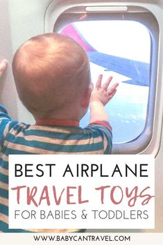 Looking for the best travel toys for babies and toddlers. This post is filled with ways to keep your baby or toddler busy on a plane. Included are ways to entertain your baby, toddler travel toys and some of the best apps for toddlers. Travel Toys For Toddlers, Travel With Kids, Baby Travel, Family Travel, Toddler Airplane Activities, Infant Activities, Learning Activities, Toddler Toys, Baby Toys