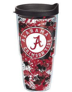 The Alabama Crimson Tide is rising to even greater prominence on this new  Tervis splatter design!