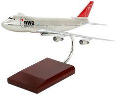 Northwest Airlines Boeing 747-200 Mahogany Model
