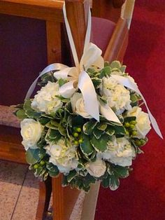 # 16 Wedding Church Flowers - Floral Expressions Inc - Janesville, WI Florist by . Wedding Pews, Wedding Ceremony Flowers, Floral Wedding, Wedding Bouquets, Wedding Church, Church Weddings, Pew Flowers, Church Flowers, Cheap Flowers