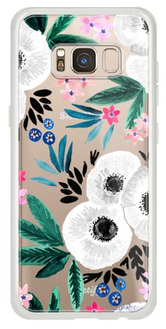 Casetify Galaxy Classic Snap Case - Posie Colorful Floral Clear by Crystal Walen
