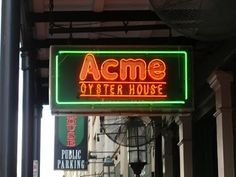 Acme Oyster House (French Qtr). Chargrilled Oysters