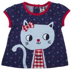 Camiseta gato, para nina - tuc tuc
