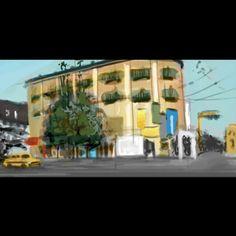 """Calcutta"" Digital painting, colour study."