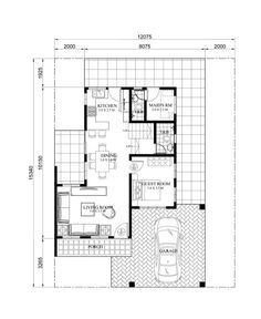 Carlo is a 4 bedroom 2 story house floor plan that can be built in a ...