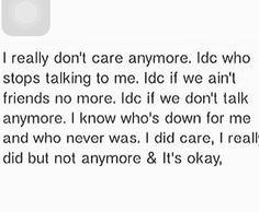 I really don't ✌✋