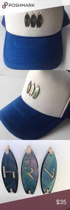 b000190502a NWOT Decky HRN Nacre Surf Cap Hat Snap Back Tahiti COLLECTIBLE. NEW Decky  HRN Nacre