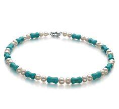 Rosalie Halskette - Weiß A 6-7mm Ketten