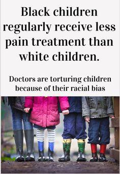 Racism is a big part of pain treatment, though doctors don't like to admit it. Black children regularly receive less pain treatment than white children. Chronic Anemia, Rheumatoid Arthritis, Chronic Illness, Chronic Pain, Endometriosis, Fibromyalgia, Pain Management, Black Kids, Asthma