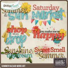 Summer Bazaar Word Art :: Gotta Pixel Digital Scrapbook Store by Aimee Harrison $2.99