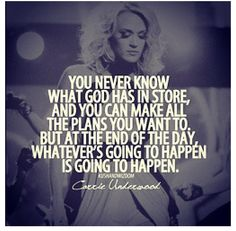 I love Carrie Underwood so much. So inspirational