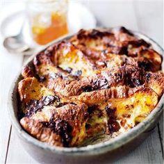 Marmalade Croissant Bread-Pudding with Grand Marnier & Fine Chocolate