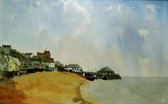 Buy Viking Bay, Broadstairs Kent. - A Large original watercolour painting. Lovely Gift!, Watercolour by Julian Lovegrove Art on Artfinder. Discover thousands of other original paintings, prints, sculptures and photography from independent artists.