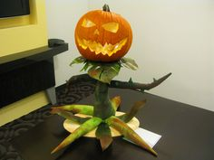 Team 3: The Sinister Squashling, a visitor from Azeroth. Character from the World of Warcraft MMORPG. Click on the image to vote for your favorite pumpkin!