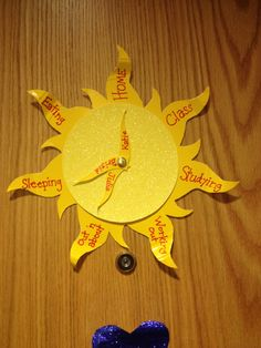 Tangled Sundial door dec! - By: Julie