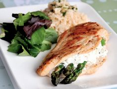 A quick and healthy recipe that pairs tender asparagus with creamy goat cheese for an all-star chicken dish.