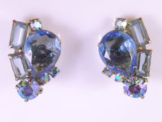 A personal favorite from my Etsy shop https://www.etsy.com/listing/231382200/large-rhinestone-earrings-large-blue