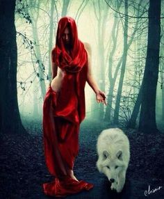 Witch and white wolf... LOVE