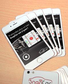 Flyer Forme Smart Phone Pour Notre Client SnapCar Une Opration Marketing Lyon