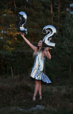 Dropped waist silver birthday sequin dress