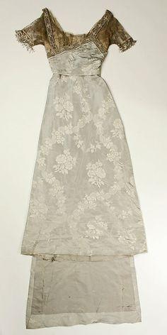 Dress, Evening.  By Callot Soeurs.  Date: ca. 1910.  Culture: French.  Medium: silk.  The Metropolitan Museum of Art in New York.    [ Titanic era ]