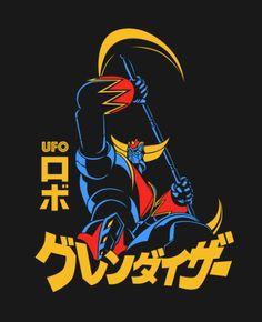 cartoons japan Goldrake T-Shirt Design by Yexart Robot Cartoon, Cartoon Art, Gundam, Japan Graphic Design, Japanese Robot, Mecha Anime, Popular Art, Manga Illustration, Manga Comics