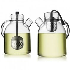 3. Slow down and have a cup of tea. Take a teensy bit of time to yourself.  (Take five minutes for a cup of tea: Menu Glass Kettle Teapot with Two Thermo Cups via HUS & HEM)