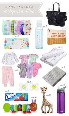 Diaper Bag Must Haves. Especially the ziploc bags, genius! My Baby Girl, Our Baby, Baby Baby, Diaper Bag Essentials, Baby Must Haves, Baby Makes, Everything Baby, Baby Time, First Baby