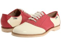 Pink saddle shoes I love the classic 50's look of these! Makes me want to find a poodle skirt!