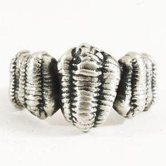 Extinct Sea Bug Fossil Trilobite Ring Calymene by Spoonier on Etsy