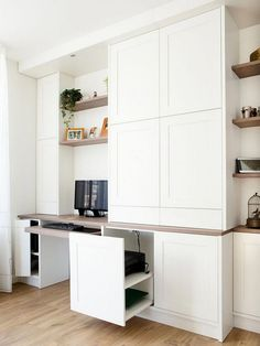 California Closets Built-In Bookshelves: Our Home Office Design – Anne Sage Office Cabinets, Office Nook, Home, Bookshelves Built In, Small Room Design, Cabinet, Office Cupboards, Home Office Design, Office Design