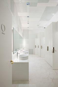 White change room