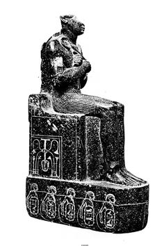 Sitting statue of king Thutmose III of the dynasty, later usurped by/rededicated to Psusennes II and Shoshenq I (end dynasty). The statue also mention an hypothetical pharaoh Maatkheperre setepenre, Shoshenq meryamun, perhaps an ephemeral ruler in Thebes. Ancient Egypt History, Ancient Art, Cairo Museum, Luxor Egypt, Egyptian Art, Archaeology, Old Things, Statue, April 3