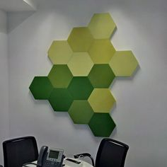 Fluffo Hexa - soft, acoustic wall panels