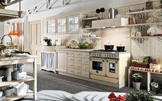 кухня callesella2 бежевой страна