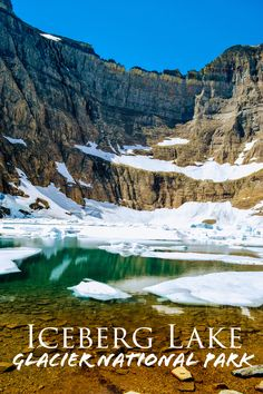 The Iceberg Lake trail is a ten-mile round trip hike in the Many Glacier area of Glacier National Park. The out and back trail is slightly up hill the entire way to Iceberg Lake, climbing around 1500 feet in elevation. Glacier Lodge, Glacier Park, Glacier National Park Montana, Big Sky Montana, Hidden Lake Montana, Virginia Fall, Many Glacier, Paisajes, Jungles