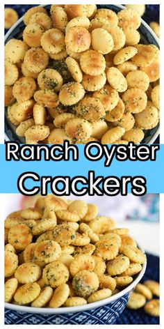 Oyster Cracker Snack, Seasoned Oyster Crackers, Ranch Oyster Crackers, Ranch Oyster Cracker Recipe No Bake, Seasoned Saltine Crackers, Ritz Crackers, Snack Mix Recipes, Appetizer Recipes, Cooking Recipes