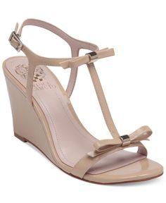 2858c05682575 Vince Camuto Hattel Bow Wedge Sandals Shoes - Sandals   Flip Flops - Macy s