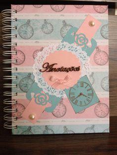 Caderno anotações Scrapbooking...