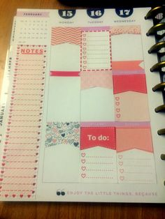 Happy Planner MAMBI Valentine/February by StickerPlanning on Etsy