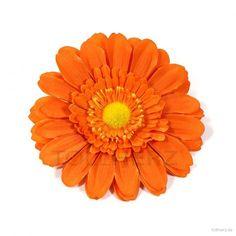 "Ansteckblume, Haarblume in orange, Modell ""Pretty Gerbera"""