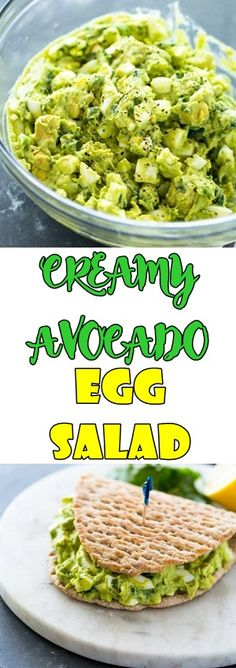 Spice up the usual egg salad with the addition of avocado. Avocado makes a delicious and nutritious addition to egg salad and thanks to its naturally cream Egg And Grapefruit Diet, Boiled Egg Diet Plan, Keto Recipes, Healthy Recipes, Avocado Egg Salad, Healthy Salads, Boiled Eggs, Us Foods, Breakfast Recipes