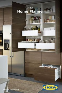 Start bringing your kitchen dreams to life. Use the IKEA Home Planner tool to start planning your kitchen or visit the IKEA store and speak with our IKEA kitchen experts. Kitchen Ikea, Ikea Kitchen Design, Interior Design Kitchen, Kitchen Decor, Rustic Kitchen, Ikea Kitchen Pantry, Country Kitchen, 1960s Kitchen, Kitchen Walls