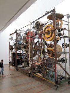 Jean Tinguely www. Jean Tinguely, Yves Klein, Modern Sculpture, Sculpture Art, Nouveau Realisme, Mechanical Art, Found Object Art, Kinetic Art, Jean Arp