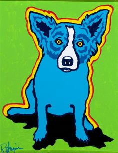 GEORGE RODRIGUE (American, b. 1944). Shadow in My Mind. Oil  on canvas board. #heritageauction