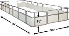 Pontoon boat replacement fence paneling