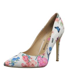 Another great find on #zulily! White Floral Opus Pump #zulilyfinds